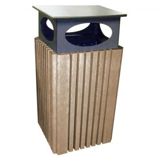 Green Scapes Trash Receptacle with Rain Guard